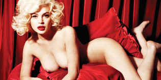 Lindsay Lohan pose like Marilyn Monroe
