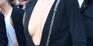 Miranda Kerr In A Deep Plunge Dress
