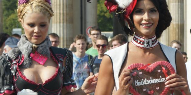 Micaela Schaefer Topless at the Brandenburg