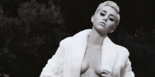 MileyCyrus Topless for V Magazine