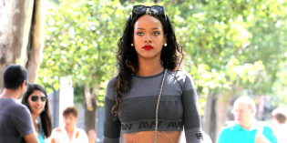 Rihanna in a Tight CropTop and Leggings