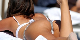 Claudia Romani in white bikini