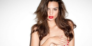 Emily Ratajkowski topless for Terry Richardson