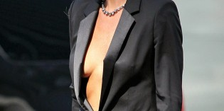Gwyneth Paltrow: braless for Hugo Boss