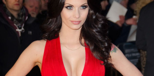 Jessica Jane Clement red cleavy dress