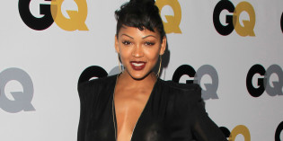 Meagan Good see-through dress