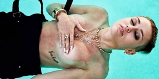 Miley Cyrus covered topless in Rolling Stone Mag