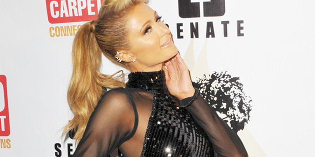 Paris Hilton Revealing Dress To A Pre-Grammy Party