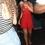 Rihanna See-Through Red Dress